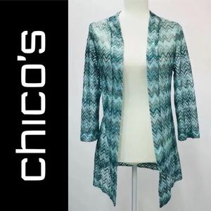 Travelers by chicos Top open front Cardigan Sz 0